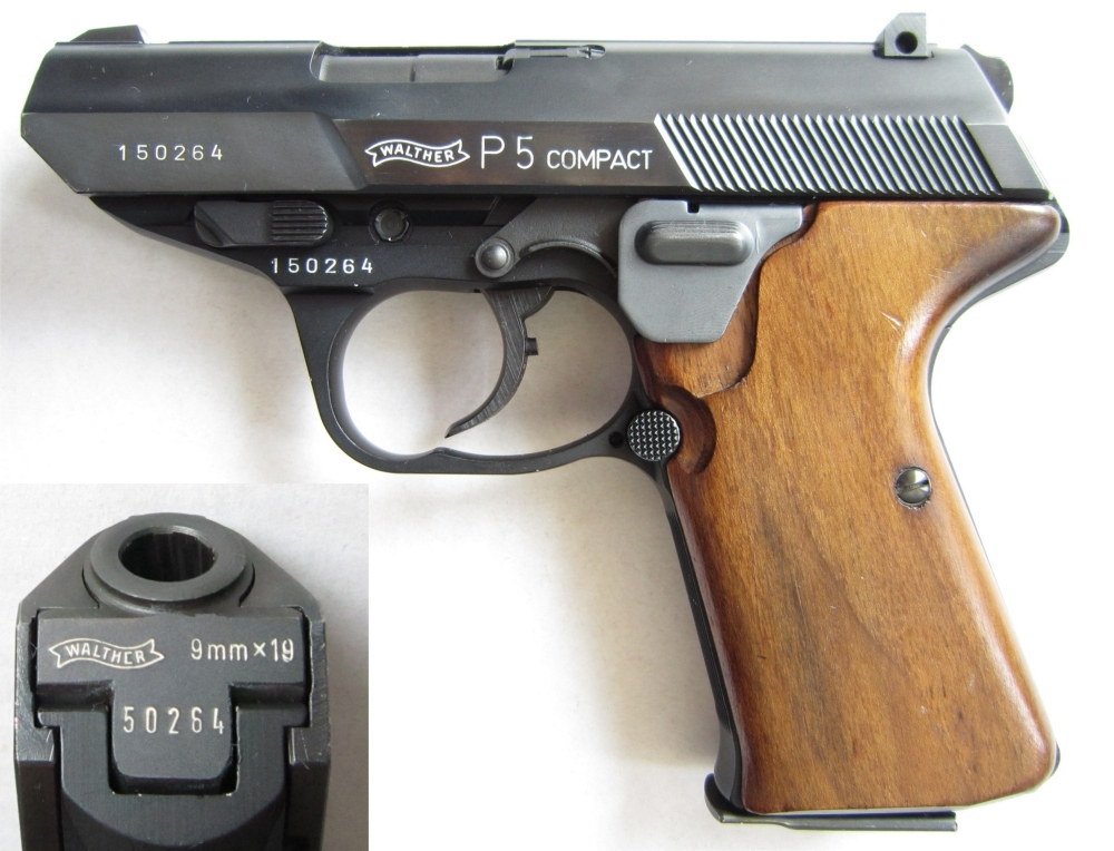 Walther P5 compact with magazine thumb release