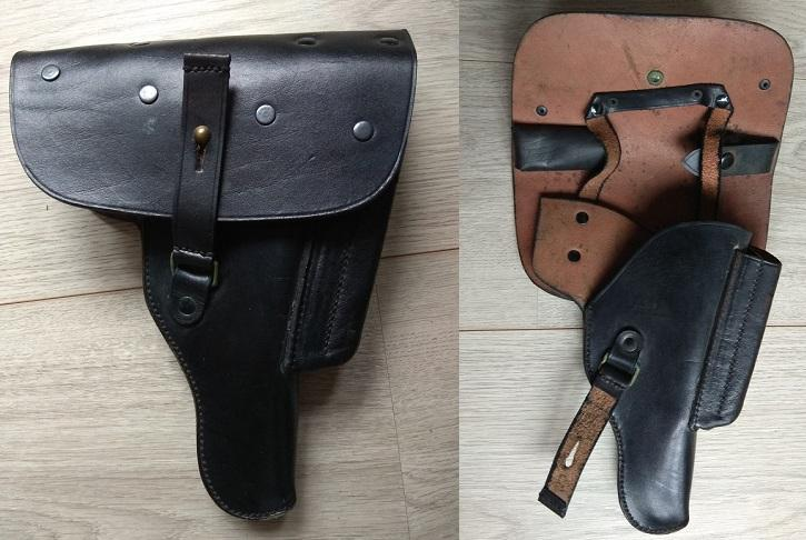 Rare Portuguese P38 Holster with double magazine pouch