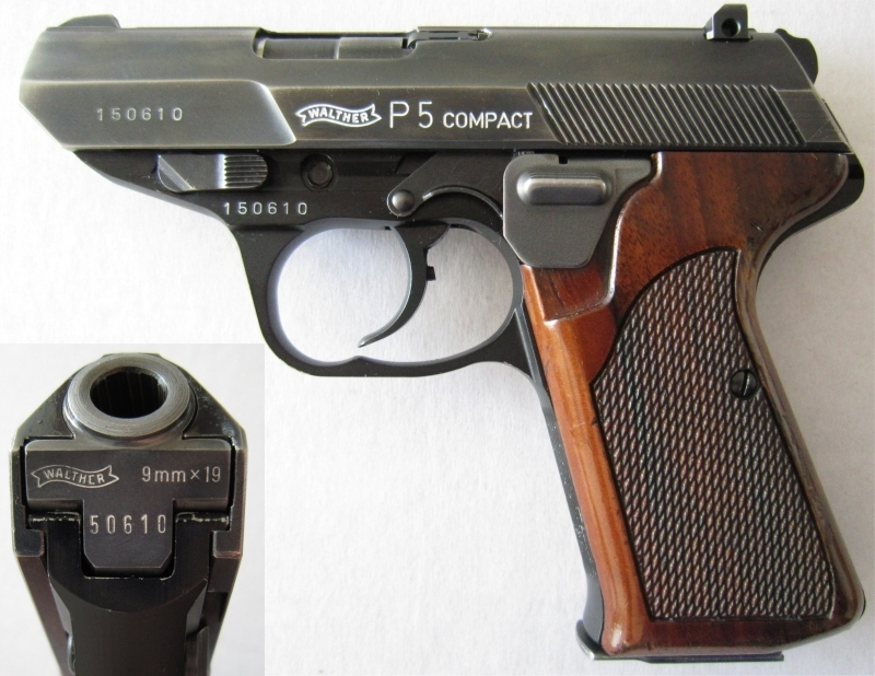 Walther P5 compact with magazine heel release