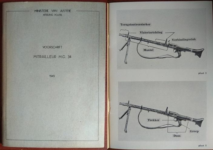 Dutch Police manual from 1949 for the MG34