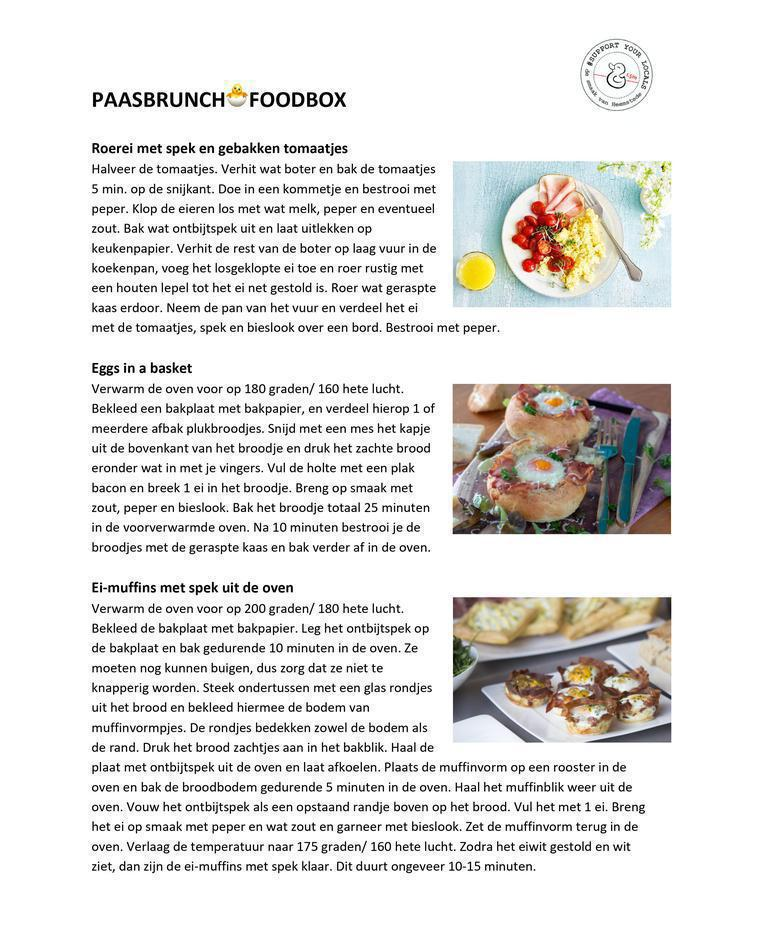 Recept Paasbrunch FOODBOX
