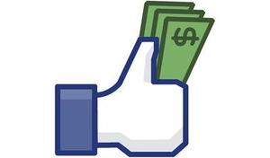 Facebook like icon with money
