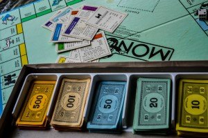 play for bank as in monopoly and lend money
