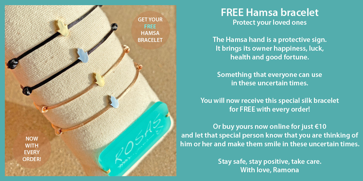 Hamsa free bracelet with every order