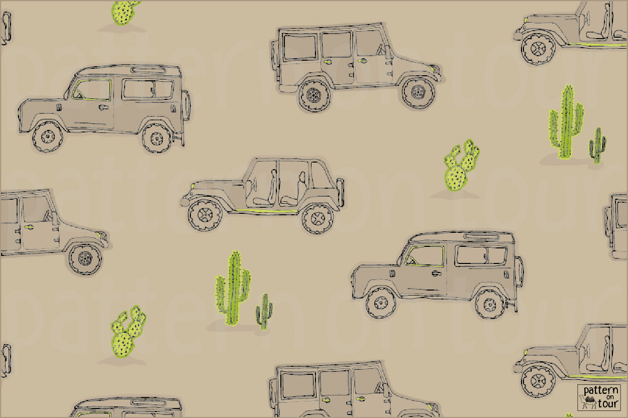 Pattern on tour, patronen, patroon, dessin, wallpaper, jeeps, boy
