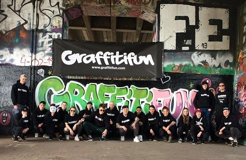 Team Graffitifun Amsterdam personal-artist workshopteam graffiti Michel Steers