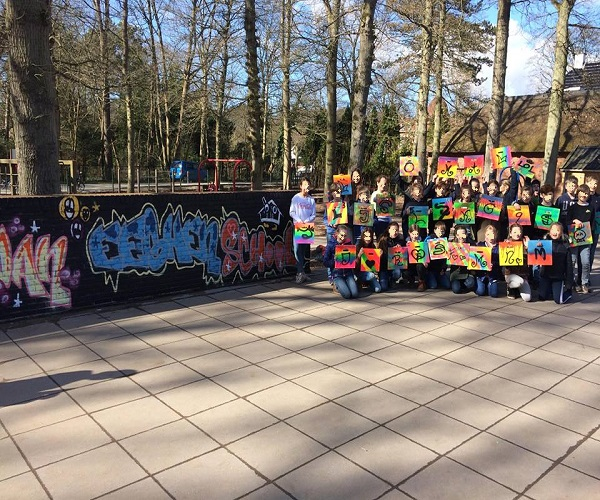 Graffiti workshop school activiteit
