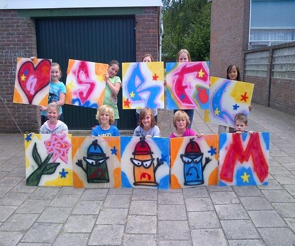 Graffiti kinderfeestje workshop