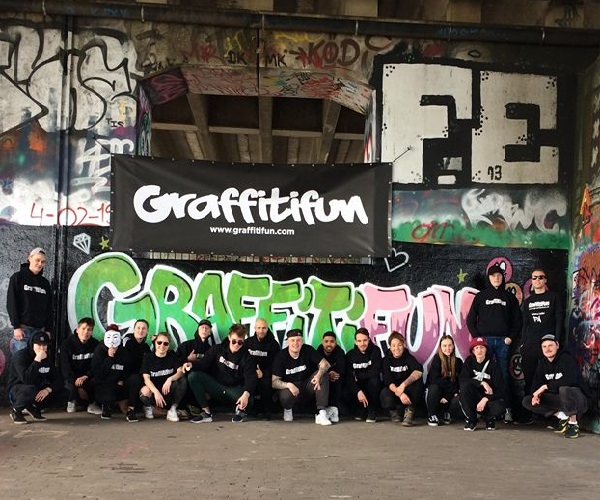 Graffiti workshops Graffitifun artiesten en team