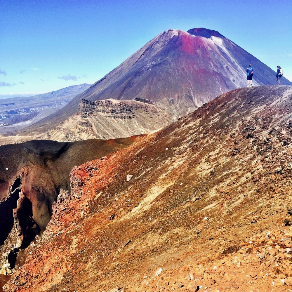 Het kraterlandschap van de Tongariro Alpine Crossing