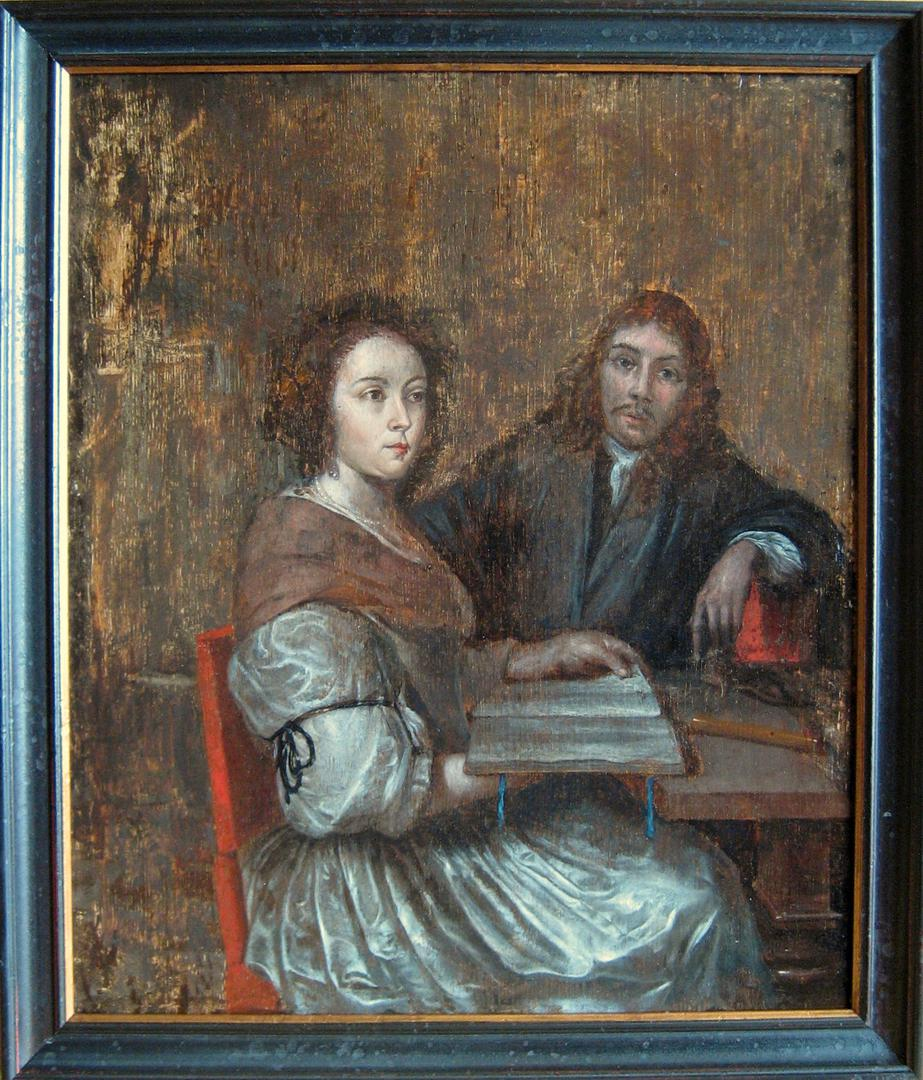 couple at a table