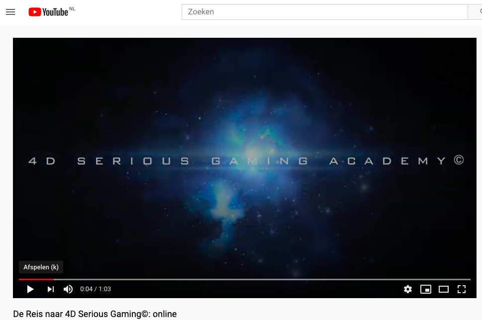 De Trailer: 4D Serious Gaming©: online